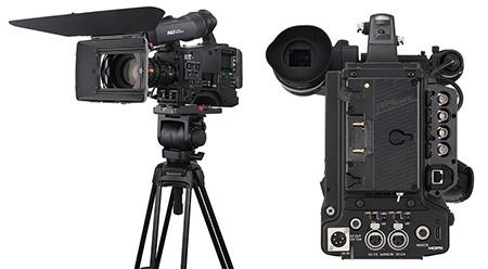 Panasonic AG-HPX600EJ - na stativu a zezadu