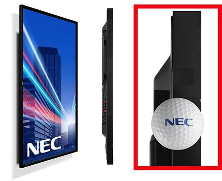 NEC MultiSync X401S - poloha Portrét + ukázka, jak je panel tenký
