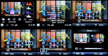 editace snímků a digifiltry