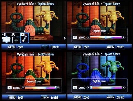 LCD: wb - barevná teplota