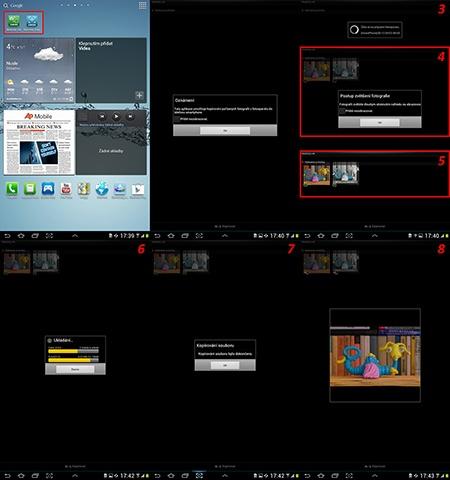zaslání fotografií z fotoaparátu do tabletu