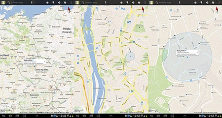 GPS a zobrazení stanoviště na mapě