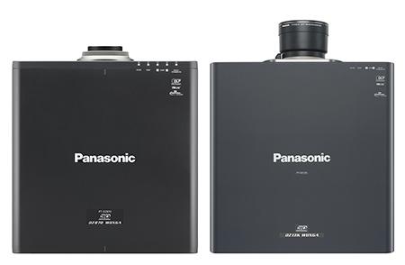 Panasonic PT-DZ870 a PT-DZ13K shora